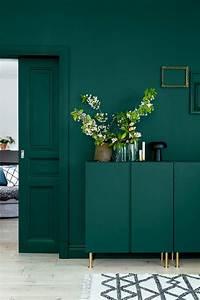 Farbpalette Wandfarbe Grün : trend 2018 f r wandfabe petrol farbe ist angesagt innendesign zenideen ~ Indierocktalk.com Haus und Dekorationen