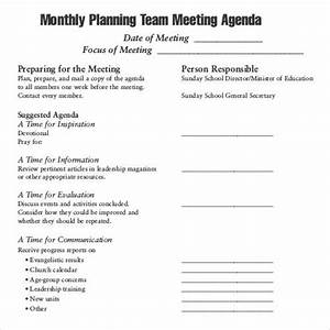 41 agenda templates sample templates for Monthly meeting schedule template