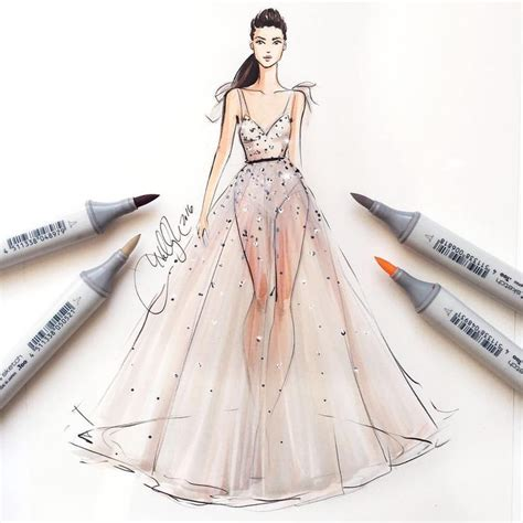 Fashion Design Dresses by Best 25 Fashion Illustrations Ideas On
