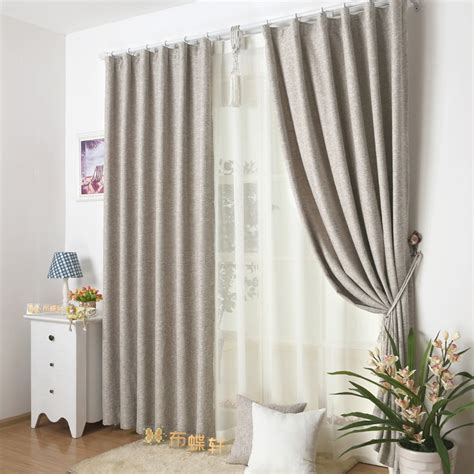 Elegant Modern Light Grey Outhouse Window Curtains