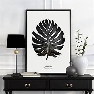 Painting canvas art modern nordic poster black and white