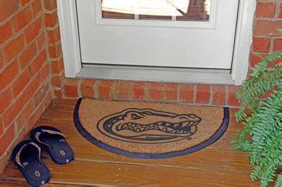 college doormats florida gators ncaa college half moon outdoor door mat