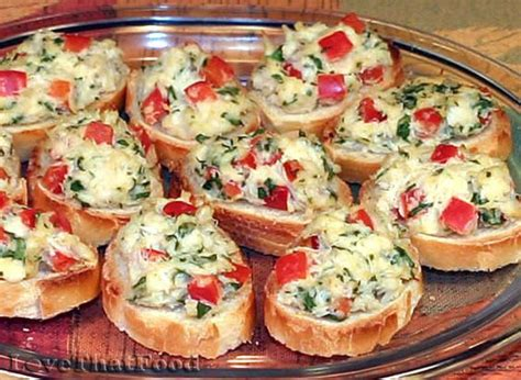 finger food appetizers cold appetizers finger food crab crostini recipe with picture lovethatfood com favorite