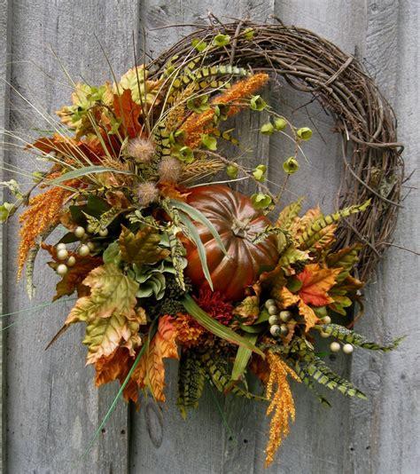 fall wreath autumn wreaths thanksgiving harvest