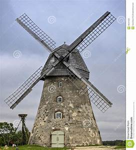 Old Windmill In Village Of Araishi, Latvia, Europe Stock ...