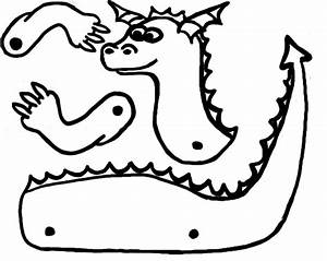 dragon pictures to print clipart best With dragon cutout template