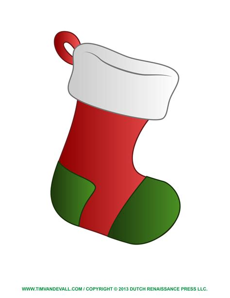 Free Christmas Stocking Clip Art