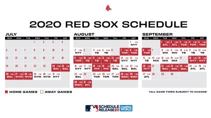 Red Sox 2020 Schedule Announced: Opening Day Vs. Orioles ...