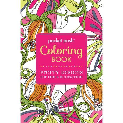 pocket posh adult coloring book pretty designs for fun