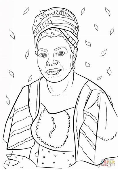 Coloring Maya Angelou Pages Printable Drawing Crafts