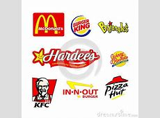 World Famous Restaurant Logos Editorial Photography
