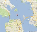 Alcatraz on Map of San Francisco Bay