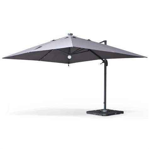 parasol d 233 port 233 solaire led 3x4m luce gris haut de gamme