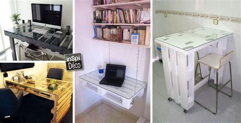 fabriquer bureau fabriquer un bureau avec des palettes 20 idées