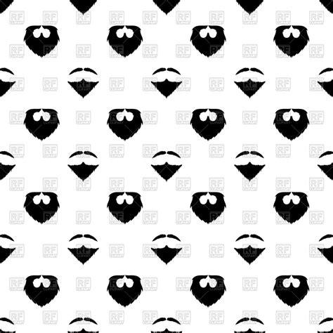 Beard silhouette seamless pattern background Royalty Free ...