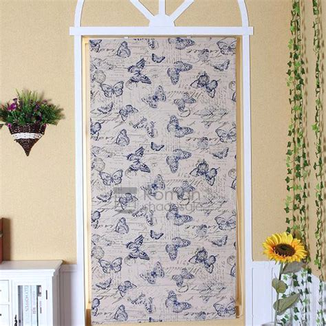 Best Butterfly Pattern Flat Shaped Roman Shades Blinds