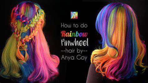 rainbow hair pinwheel   twist  anya goy
