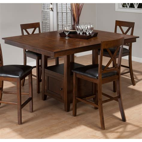 counter height kitchen tables with storage jofran oak counter height dining table with storage 9489
