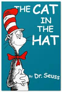 cat in the hat book book covers in comic sans steve