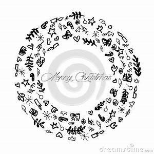 Noel Noir Et Blanc : sch ma illustration de d coration de joyeux no l noir et blanc illustration de vecteur image ~ Melissatoandfro.com Idées de Décoration