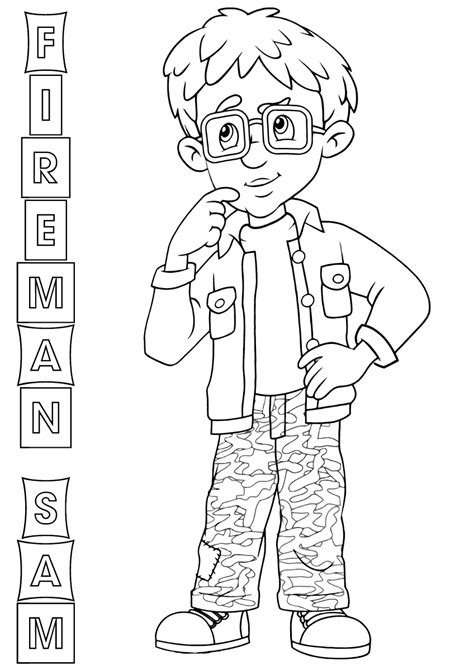 fireman sam coloring pages coloring pages    print