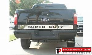 vehicle graphics stainless steel specialty accent trim With stainless steel super duty tailgate letters