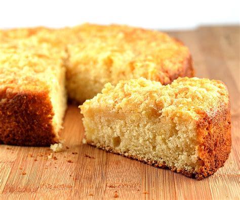 Gradually stir in the flour, baking powder, baking soda, and salt until combined. Meyer Lemon Coffee Cake {Vegan} - TheVegLife