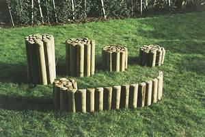 Rondin De Bois Pour Jardin : bordure demi rondin tootan ~ Edinachiropracticcenter.com Idées de Décoration
