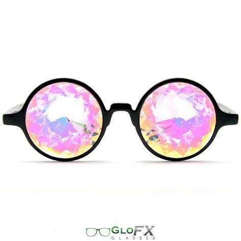 Glofx Black Kaleidoscope Glasses Rainbow