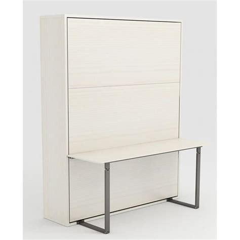 armoire lit escamotable stone 160x200 blanc bureau achat