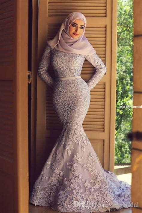 dresses 2018 new year cheongsam style thick warm new muslim lace wedding dresses 2015 sleeves zipper back