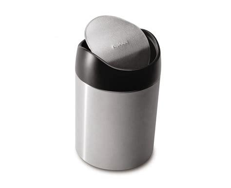 small bathroom trash can ideas simplehuman 1 5 litre tabletop bin fingerprint proof