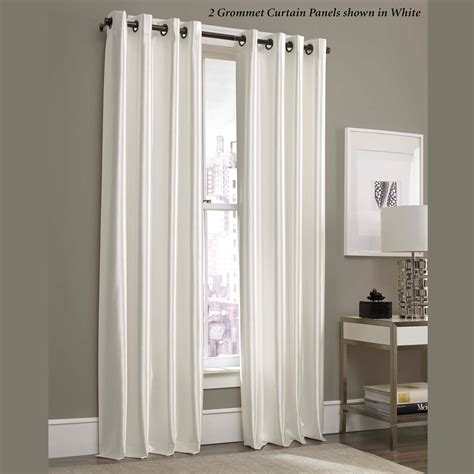 glisten satin grommet curtain panels by j queen new york