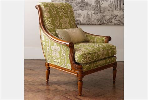 Wesley Barrell Armchairs by Stow Armchair In Zoffany Mayenne Olive Wesley Barrell