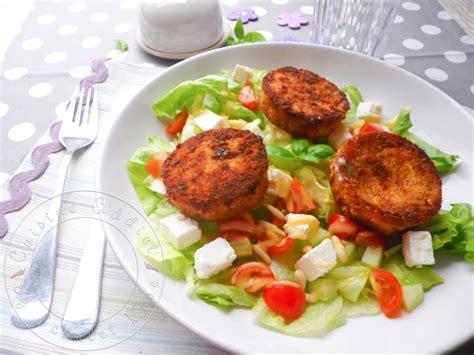 cuisine lentilles salade de chèvre chaud au rocamadour cuisine addict