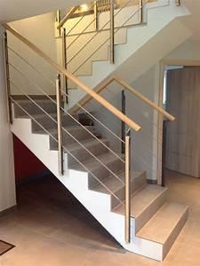 Habillage Escalier Interieur : escalier beton et bois id e inspirante pour ~ Premium-room.com Idées de Décoration
