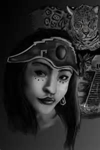 Aztec Warrior Princess Drawings