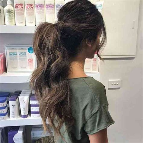 pretty easy messy ponytail hairstyles    hairstyles weekly
