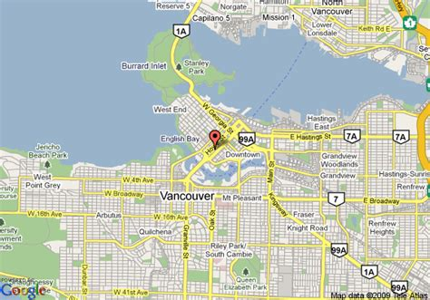 Map Of Howard Johnsonel Downtown Vancouver Vancouver