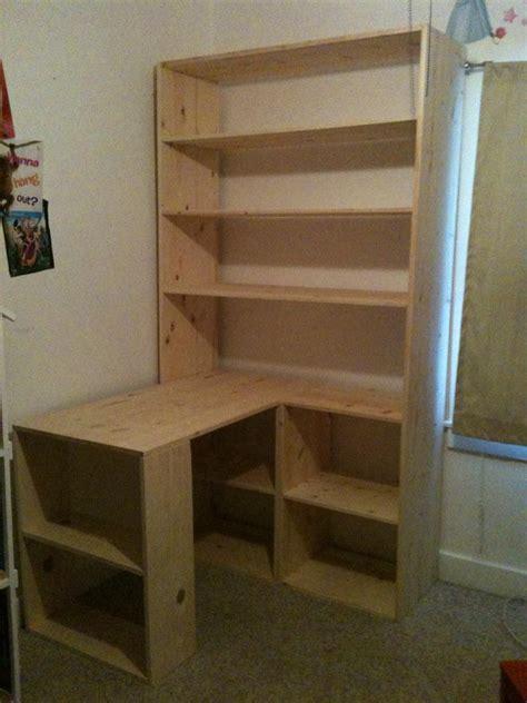 bookshelf desk plans  woodworking