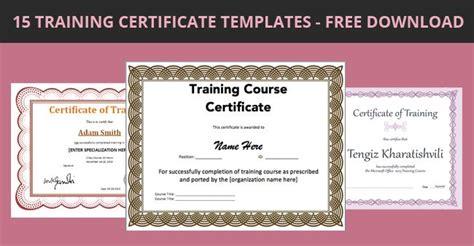 training certificate templates