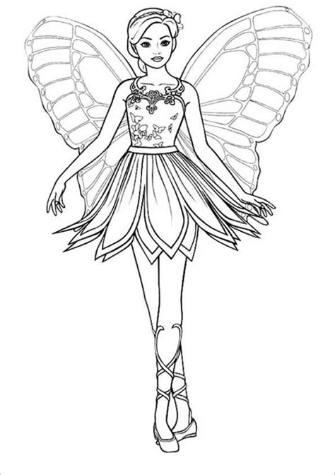 easy printable barbie coloring pages  children