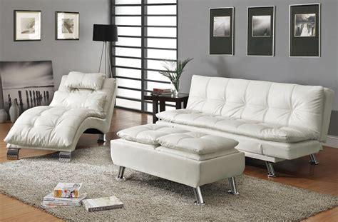 Chaise White Sofa Bed Futon