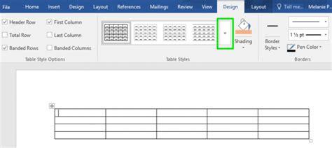 create table templates  microsoft word