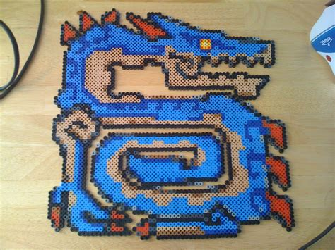 monster hunter perler beads   wallet alter perler
