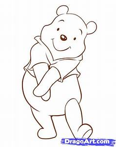 How To Draw Pooh Step By Step Disney Characters