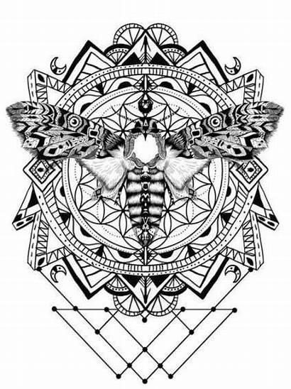 Geometry Sacred Geometric Tattoo Simple Drawings Coloring