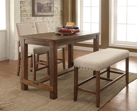 counter height kitchen table with bench best 20 counter height dining table ideas on