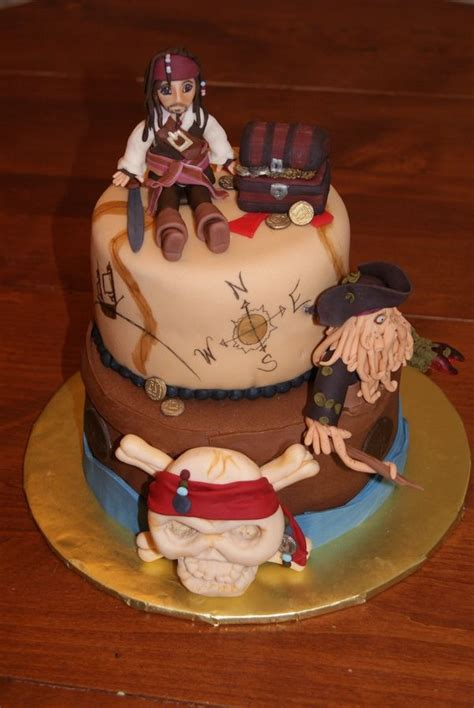 pirates   caribbean  birthday cake  photo