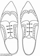 Draw Step Drawings Flats Mens Coloring Brogues Steps Lace sketch template